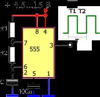 555 timer Circuit / Schematic