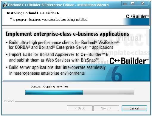 Установка Borland C++ Builder 6