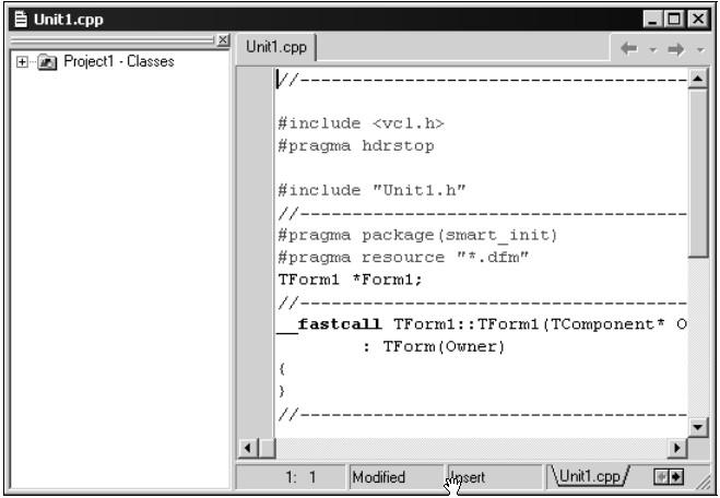 Окно редактора кода