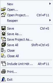 Группа команд File