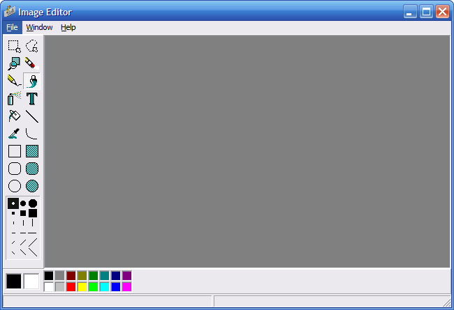 Окно графического редактора