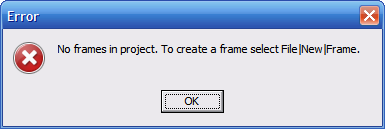 Сообщение об ошибке размещения компонента Frame