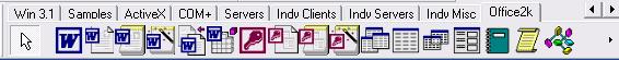 Компоненты вкладки Office2k