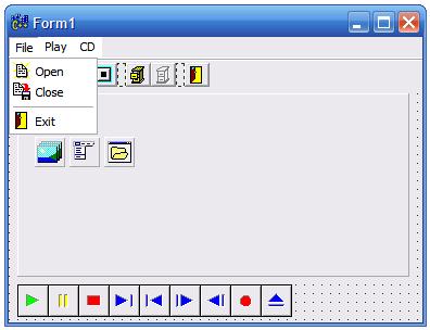 Окно программы с рисунками в меню команд
