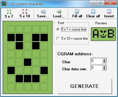 Встроенный генератор кода для ЖК-индикаторов
