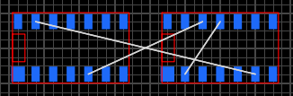 Пример соединения линиями связи