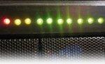 Индикация активности жесткого диска на 10 светодиодах