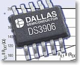 Цифровой потенциометр DS3906 со ступенчатым DC/DC-преобразователем для точного управления...