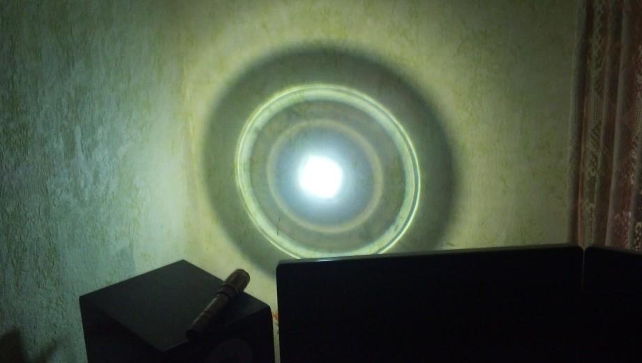 Луч света с расстояния 0.5 метра