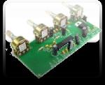 Регулятор громкости, баланса и тембра  на TDA1524A
