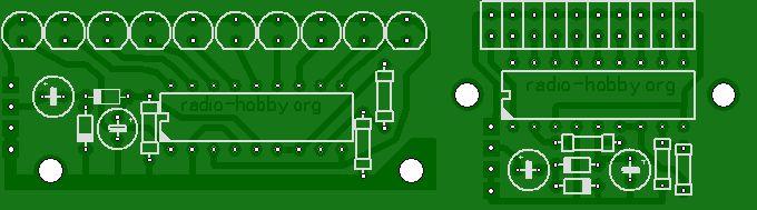 Индикатор уровня сигнала усилителя на светодиодах.
