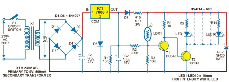 Транзистор T1 находится в