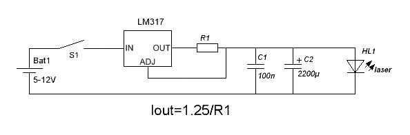 схема драйвера для лазера от dvd