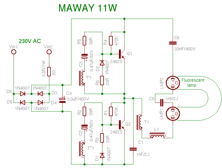 Schema Maway 11W