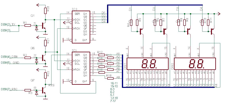 4-разрядный LED-индикатор.