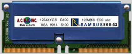 160 pin RDRAM RamBus SO-RIMM