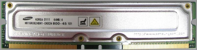 184 pin 16bit RDRAM