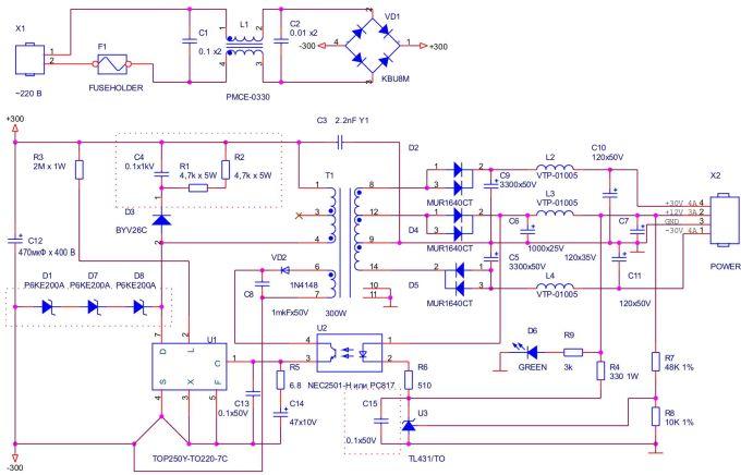 Блок питания на top 223 yn схема | Схемы зарядных устройств: http://adisco.ru/?p=3004