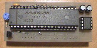 ICL7107 / ICL7106 volt meter circuit.