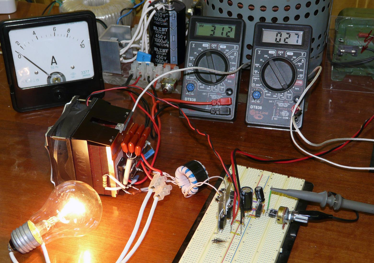 Лабораторный инвертор для индукционного нагрева.