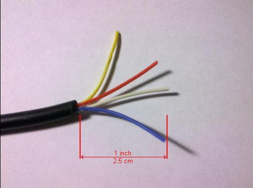шаг 1. Разделка кабеля