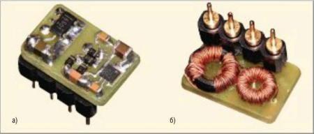 Фотография изолированного DC/DC-преобразователя 5 В/5 В на контроллере SNG501 с использованием диодов PMEG201 ОДЕВ