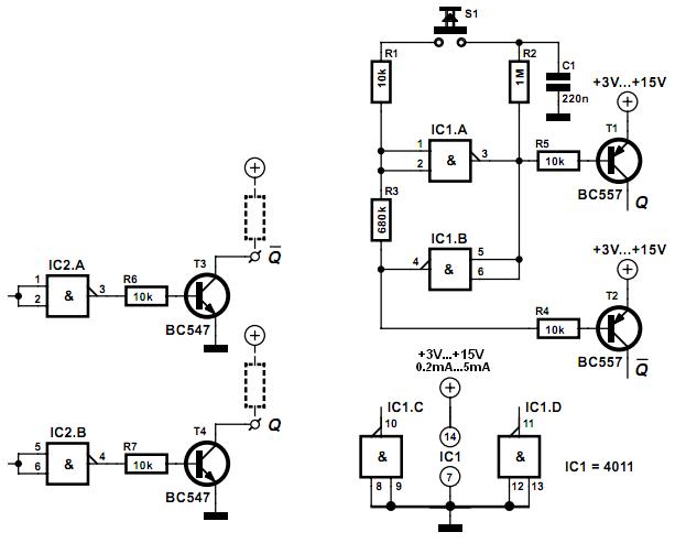 Схема. Datasheet 4011