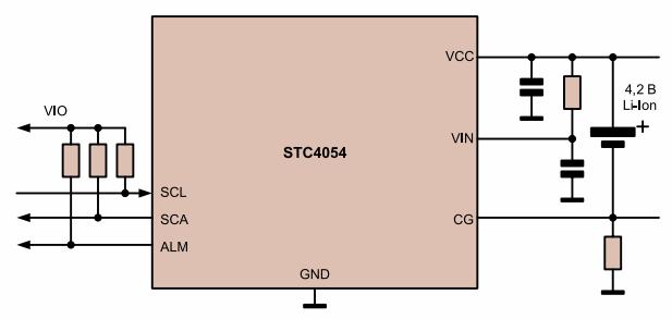 схема включения STC3105