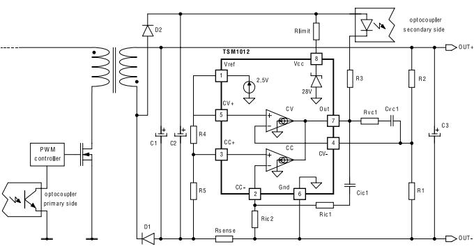 сетевое зарядное устройство на CC/CV-контроллере TSM1012