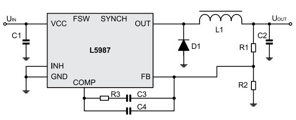 типовая схема включения микросхемы l5987