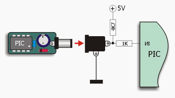 Работа электронного ключа