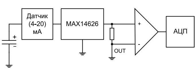 Схема защиты токовой петли