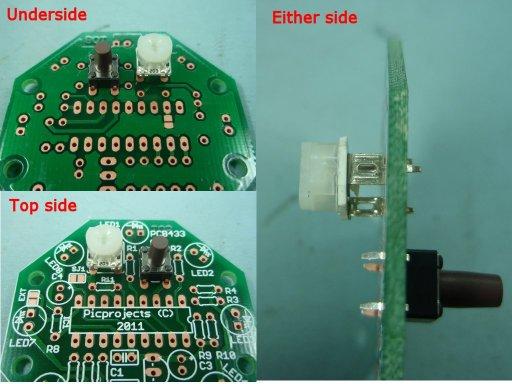 кнопка и переменный резистор