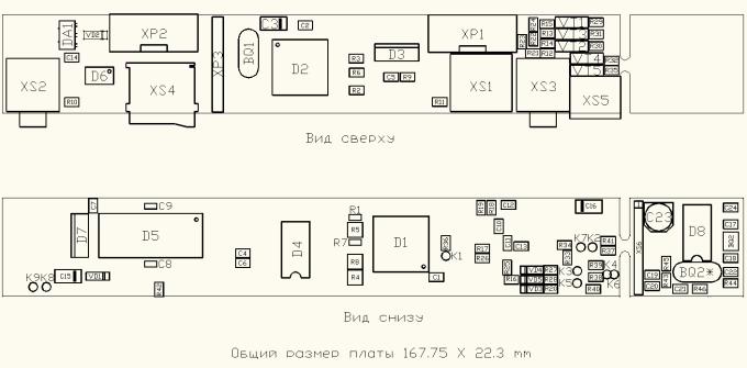 сборочный чертёж платы ZX Spectrum