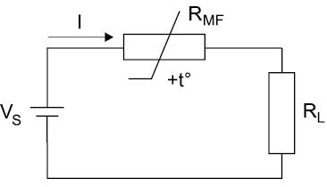 Рис. 1. Схема подключения PPTC-предохранителя