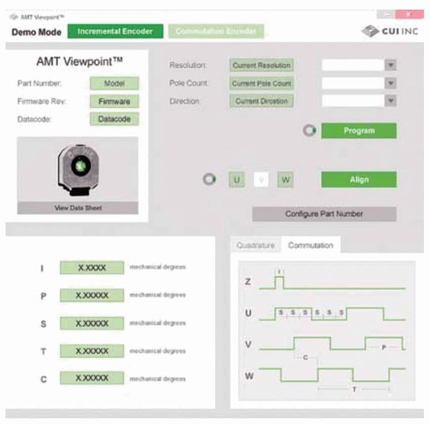Программа Viewpoint для энкодеров серии АМТ обеспечивает простой в использовании интерфейс