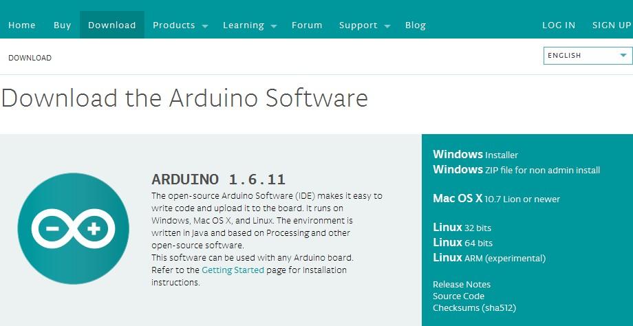 Скачиваем програмное обеспечение Arduino
