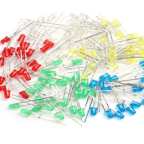100шт. светодиодов различного цвета