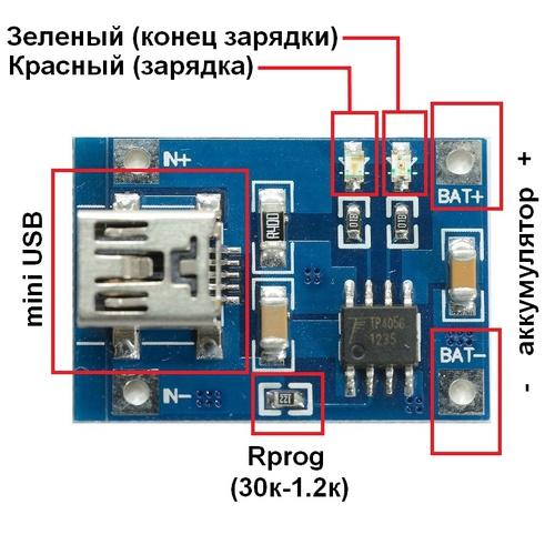 Зарядка для литиевой батареи