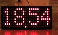Многофункциональные часы на трех светодиодных матрицах