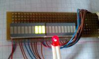 Индикатор активности жесткого диска на 10 светодиодах